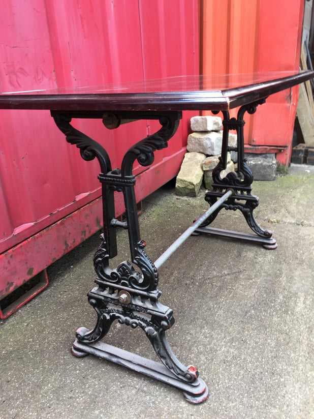 Vintage Cast Iron Pub Tables