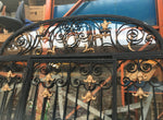 1920s Glazed Ornate Iron Entrance Archway With Door Handmade Real Quality