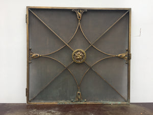 Antique Art Deco Radiator Cover Doors Hand Made In Bronze 3 Available