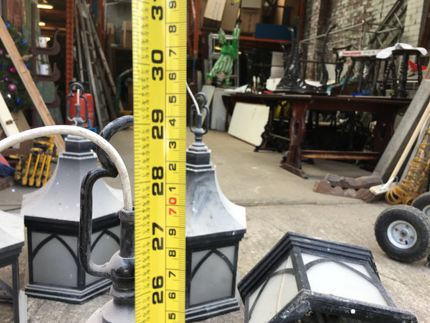 6 Large Vintage Church Lamps / Lanterns Require Restoration