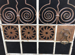 Antique Ecclesiastical Church Wrought Iron Altar Gates Large c1900