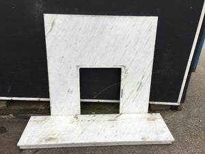 White Marble Fire Insert And Hearth