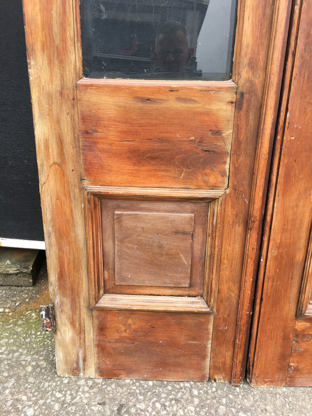 Vintage Pine Glazed Double Doors