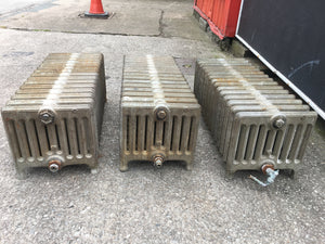 Antique Low Cast Iron radiators-3 Identical Working Order 15 Bars