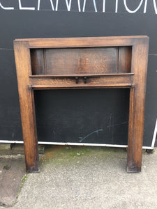 Victorian Oak 'John Mollett' Bradford Fire Surround