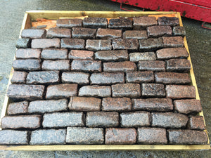 Reclaimed Red Granite Cobbles-Random Stone Setts