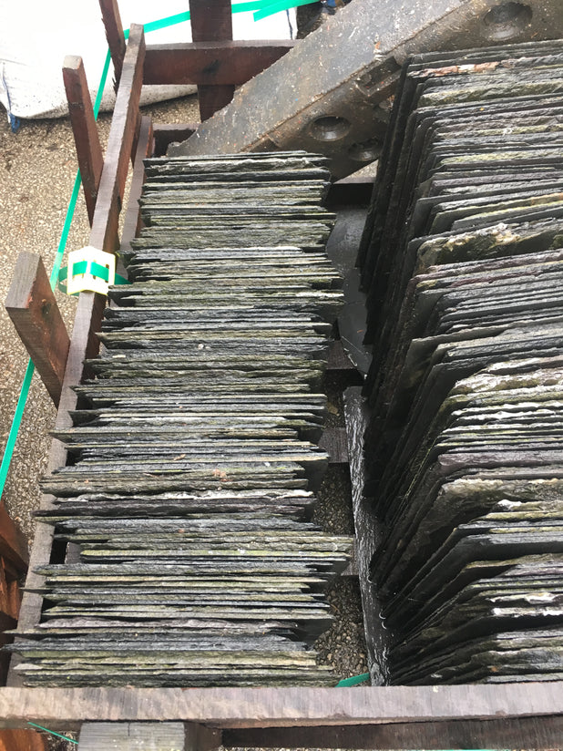 "RECLAIMED WELSH ROOFING SLATES - 20"" X 10"" 260 AVAILABLE"