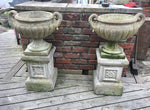 Pair Of Reconstituted Stone Urns