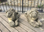 Two Reconstituted Stone Lions
