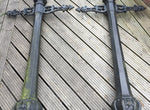 Two Victorian Cast Iron Lamp Posts