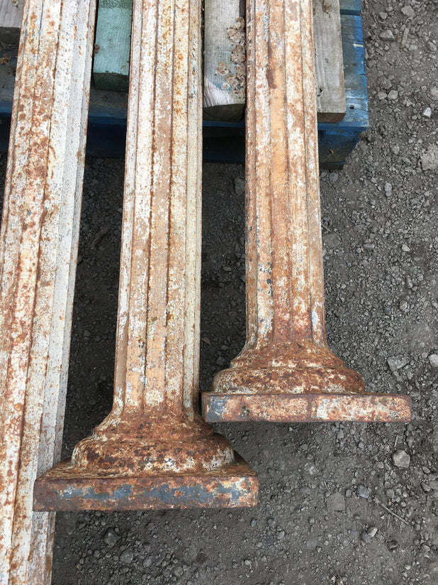 Pair Of Cast Iron Fluted Columns