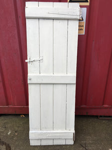 Antique Painted Pine Cottage Door
