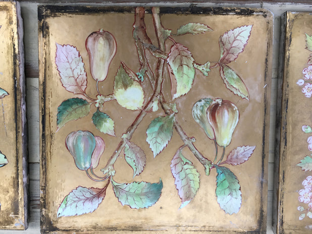 "Victorian Minton 10"" Tiles Hand Painted Camm Brothers 1870-1880 7 AVAILABLE"