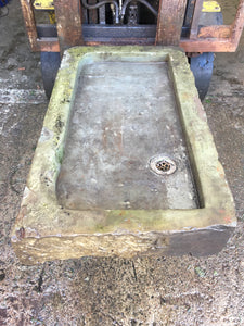 Reclaimed Stone Sink Planter Solid Stone Trough