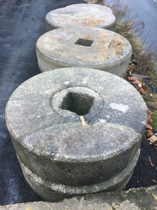 LARGE ORIGINAL GRANITE MILLSTONE VINTAGE GARDEN ORNAMENT
