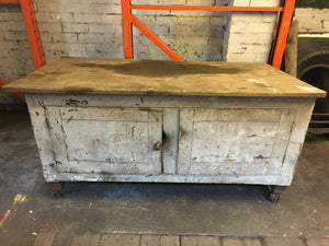 Vintage Distressed Sloping Cupboard 1920's ??