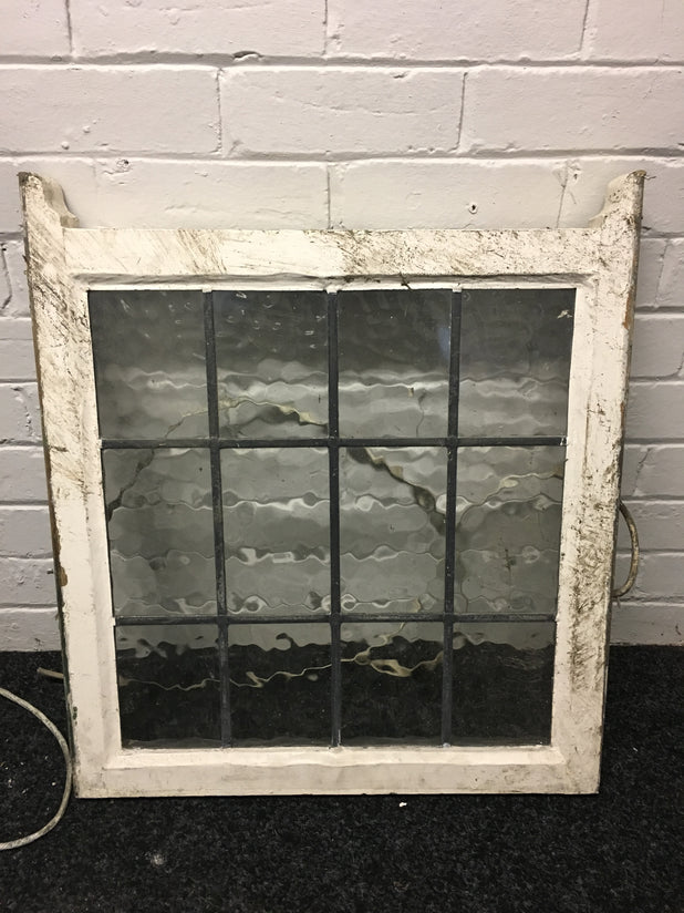 Victorian Sash Window With Leaded Glass