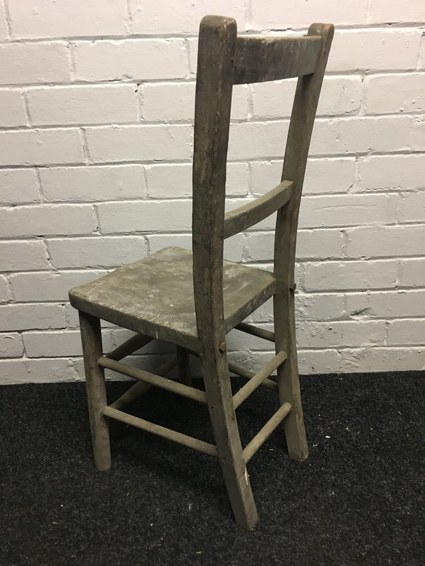 Victorian Wooden School/Church Chair