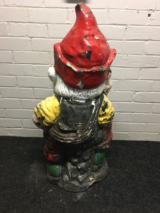 Large Antique Vintage Garden Gnome Statue