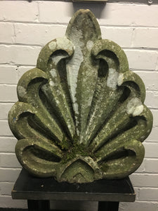 Hand Carved Stone Honeysuckle Finial