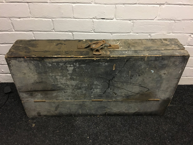 Vintage Wood Carpenters Tool Box Chest