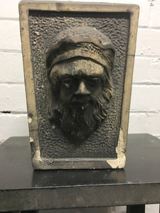 Antique Terracotta Keystone Head Sculpture