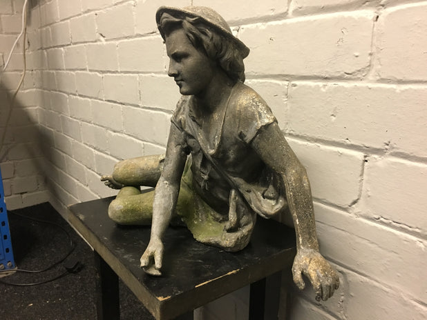 Large Antique Spelter Figure Could Be Peter Pan Maybe ??