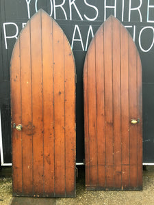 Antique Gothic Arched Doors Pitch Pine Reclaimed