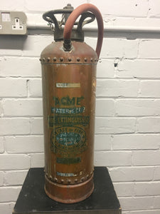 Vintage 'ACME' Copper Studded Fire Extinhguisher