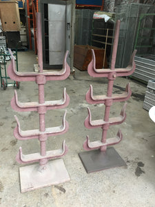 Vintage Freestanding Cowhorn Style Cast Iron Stands From Old Yorkshire Forge In Otley