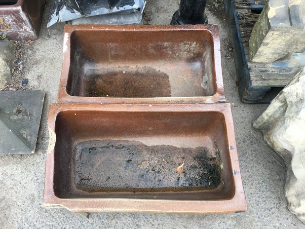 Pair of Salt Glazed Troughs by