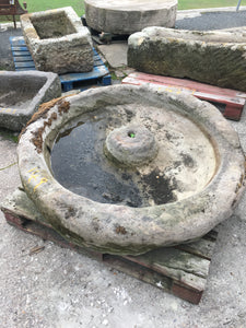 Reclaimed Yorkshire Grit stone Mexican Hat pig trough