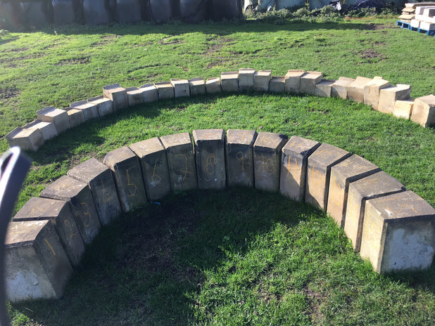 Reclaimed Large Stone Barn Arch 15 Piece Yorkstone