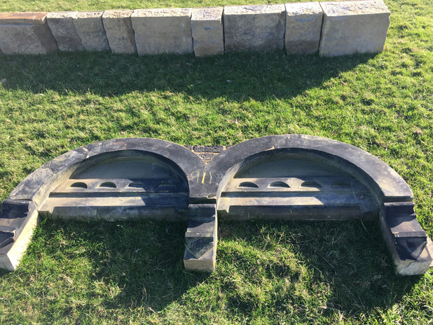 Reclaimed Yorkshire Stone Double Window Arch