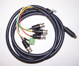 8 pin mini din (For mods) to Extron BNC - Pro Coaxial Multicore