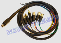 Saturn BNC and audio cable - Pro Coaxial Multicore for PVM monitor and Extron