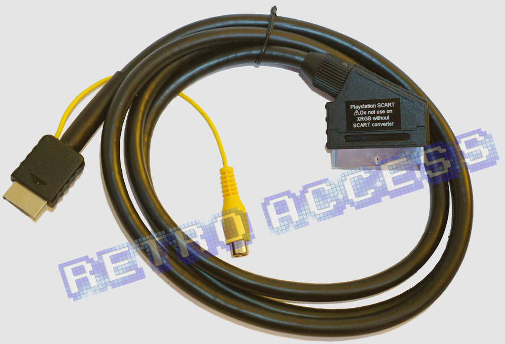 Sony Playstation RGB SCART lightgun compatible lead PS1 PS2 Luma GROUNDED cable
