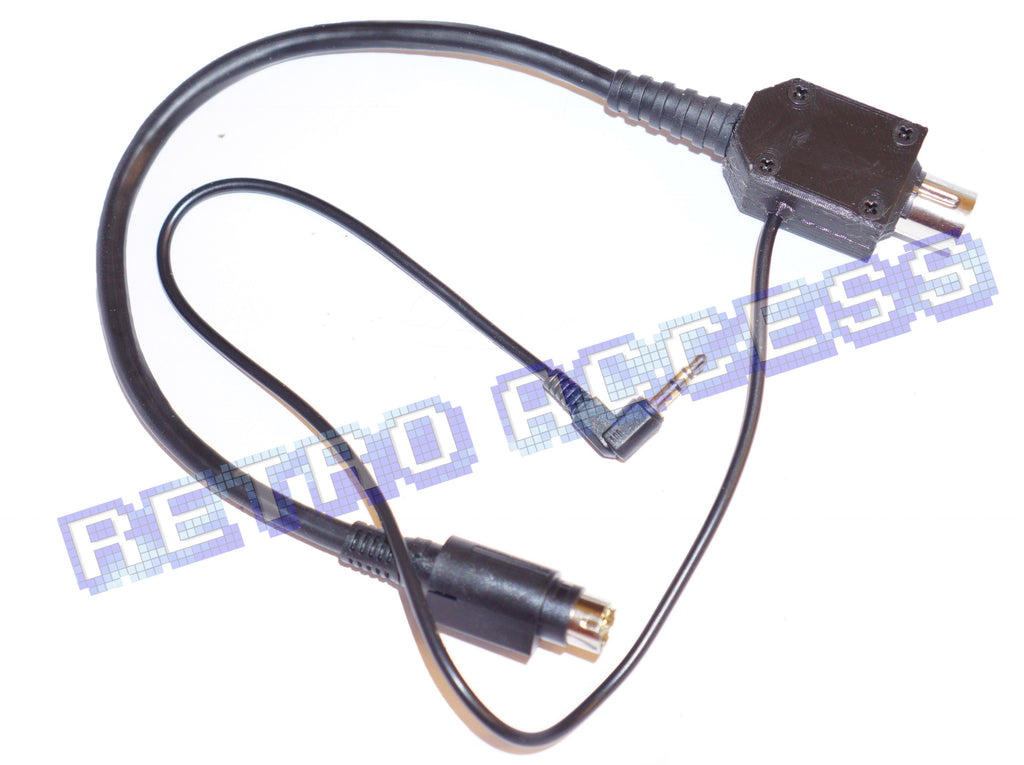 Sega Genesis 1 Megadrive *stereo* 32X PATCH CABLE link adaptor US seller!