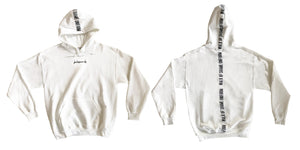 For hangover only - white maxi hoodie
