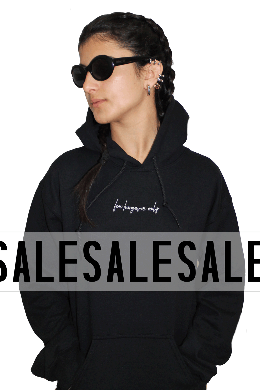 For hangover only - black maxi hoodie