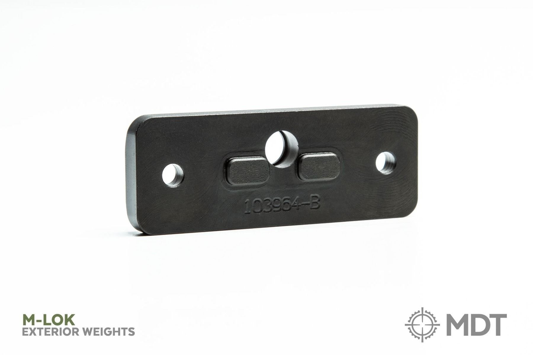 MDT ACC CHASSIS WEIGHTS - EXTERNAL FOREND (PAIR)