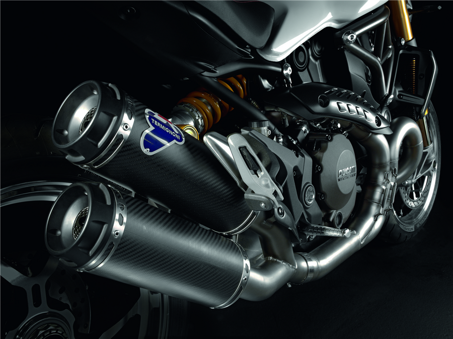 Ducati Monster 1200 Complete Exhaust System with Carbon Silencers (96480301A)