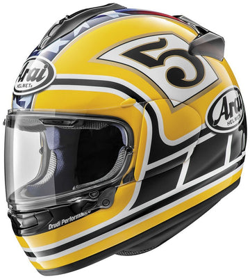 Arai DT-X Full Face Helmet Edwards Legend Yellow Graphic Large