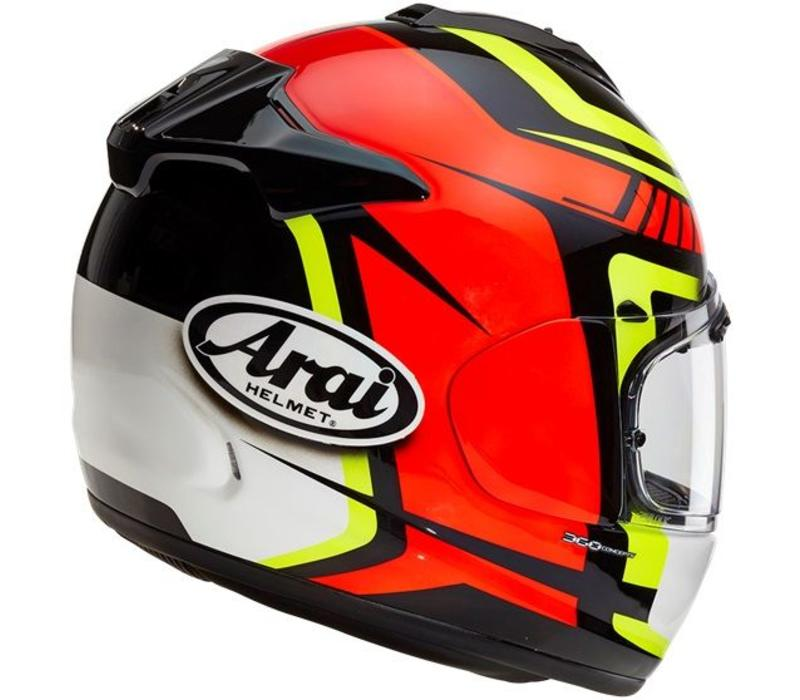 Arai DT-X Full Face Helmet Pace Red Yellow Graphic Small