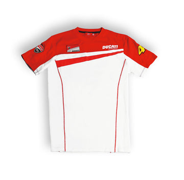 Ducati Men's Valentino Rossi D46 Moto GP Team Short Sleeve T-shirt
