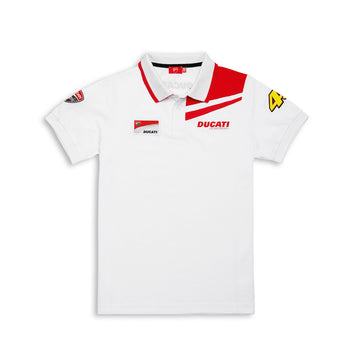 Ducati Men's Valentino Rossi D46 Moto GP Team Short Sleeve Polo