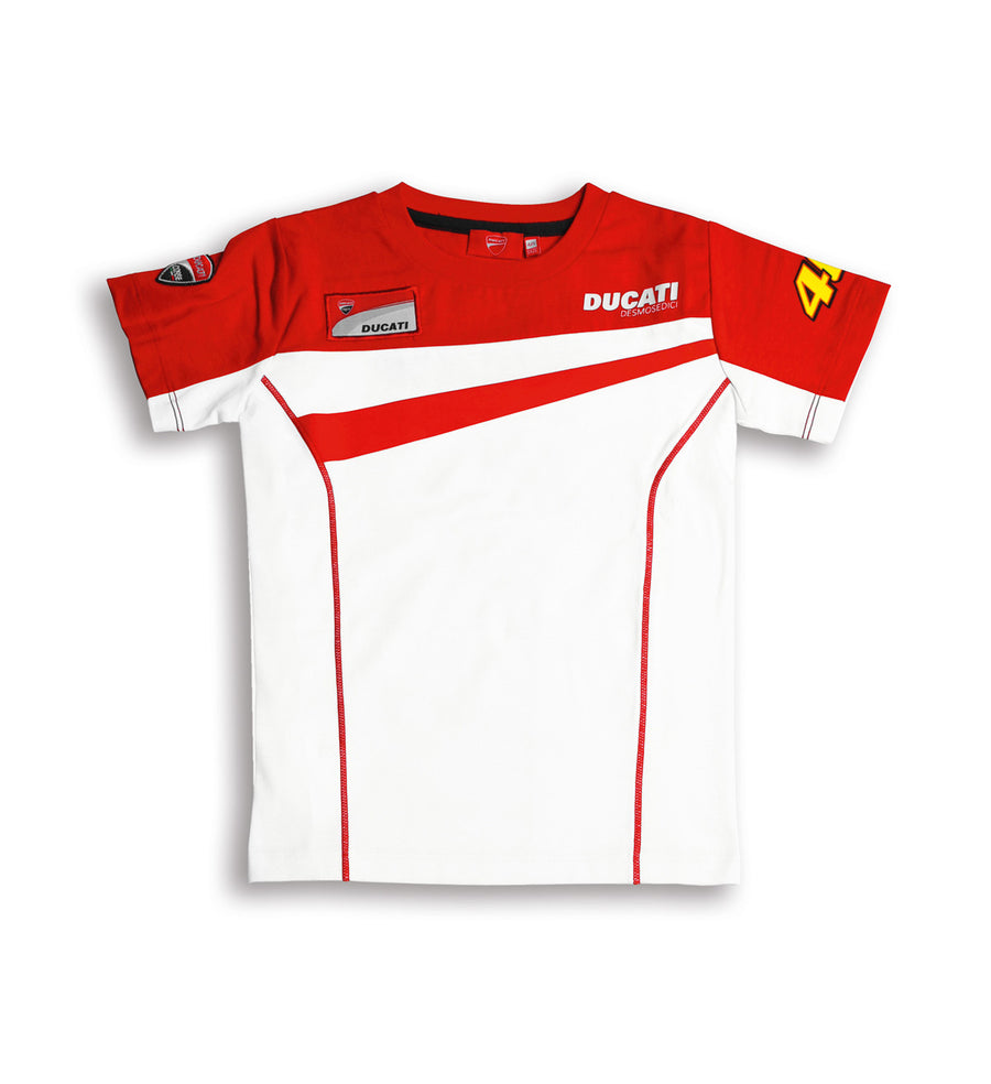 Ducati Corse Kids Valentino Rossi D46 Team Moto GP Short Sleeve T-shirt
