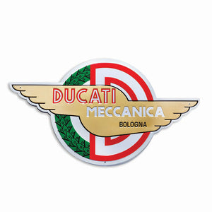 Ducati Meccanica Wings Metal Wall Sign