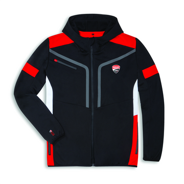 Ducati Mens Corse 19 DC Power Hooded Full-Zip Sweatshirt