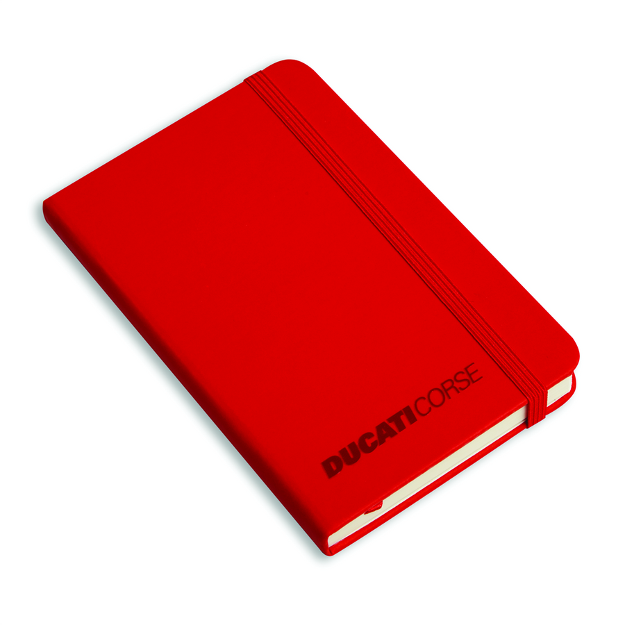 Ducati Corse Red Synthetic Leather Notebook 3.5